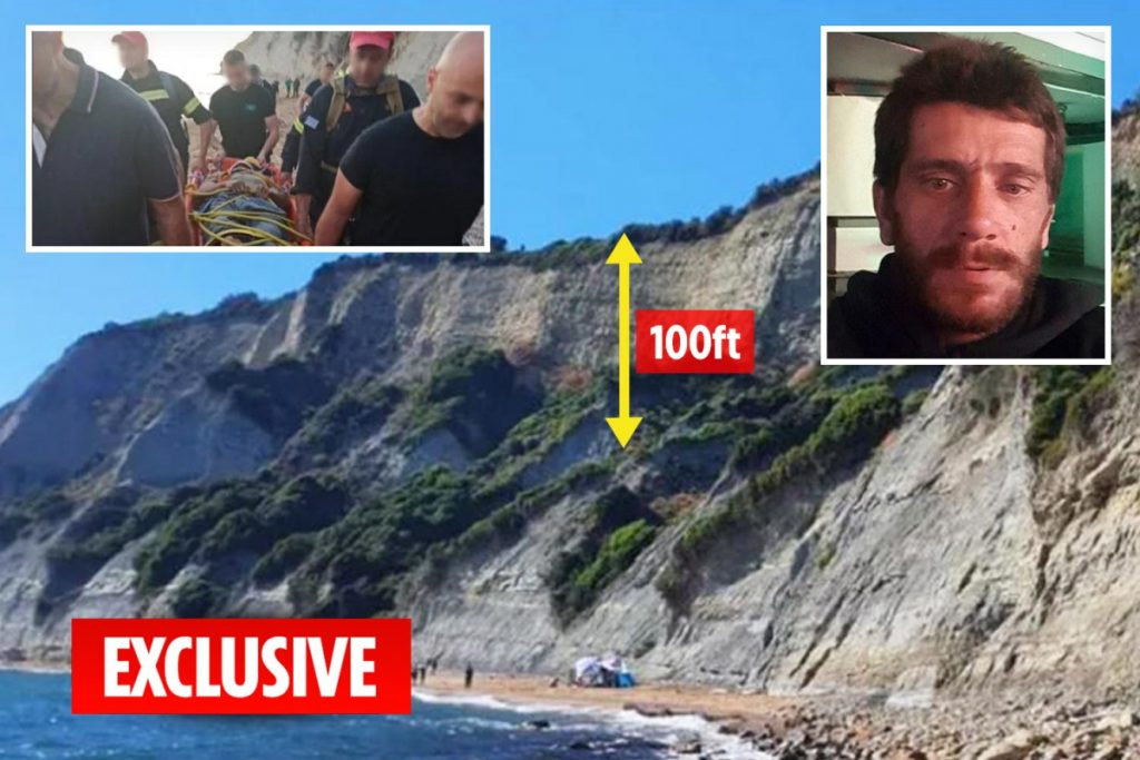 Serial rapist dubbed Beast of Kavos falls 100ft off cliff and suffers a number of accidents whereas fleeing police