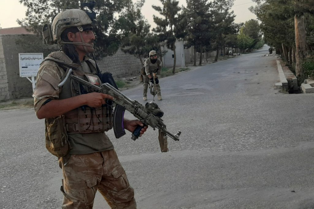Taliban militants storm TV and radio stations as they tighten grip on key Afghan metropolis